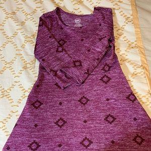 Girls purple long sleeve dress